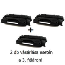 Utángyártott 2+1db féláron Akció HP 05X (CE505X) - 6.500 oldal nyomtatófesték