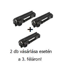 Utángyártott 2+1db féláron Akció HP 44A (CF244A) - 1.000 oldalas nyomtatófesték fekete (black)