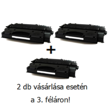 Utángyártott 2+1db féláron HP 80X (CF280X) - 6.900 oldal nyomtatófesték