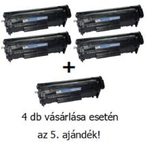 Utángyártott 4+1db AKCIÓ Canon CRG 703 (Q2612A) - 2.000 oldal