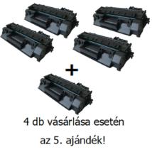 Utángyártott 4+1db AKCIÓ HP 05A (CE505A) - 2.300 oldal nyomtatófesték