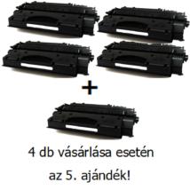 Utángyártott 4+1db AKCIÓ HP 05X (CE505X) - 6.500 oldal nyomtatófesték