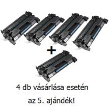 Utángyártott 4+1db AKCIÓ HP 26A (CF226A) - 3.100 oldal