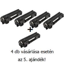 Utángyártott 4+1db AKCIÓ HP 36A (CB436A) - 2.000 oldal nyomtatófesték