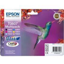 Eredeti Epson T0807 Multipack (BK + 5 szín)