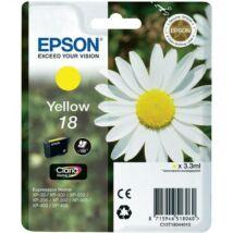 Eredeti Epson T1804 - yellow (3,3 ml ~ 180 oldal)