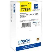 Eredeti Epson T7894 yellow - 34,2ml ~ 4.000 oldal