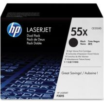 Eredeti HP 55X DUPLA (CE255XD) - 2 x 12.000 oldal
