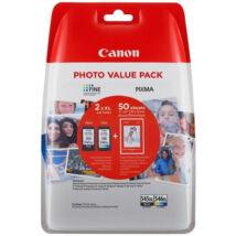 Eredeti Canon PG-545XL/CL-546XL - 50db fotópapír + fekete + színes