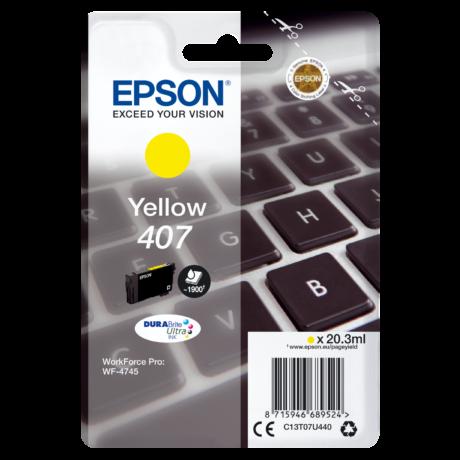 Eredeti Epson T07U4 sárga (C13T07U440) - 20,3ml ~1.900 oldal