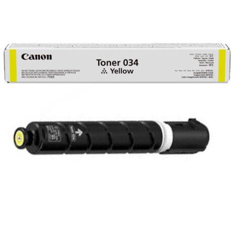 Eredeti Canon 034 yellow - 7.300 oldal