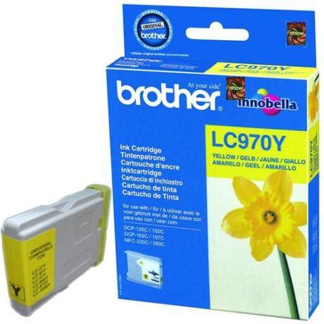 Eredeti Brother LC 970 sárga - 300 oldal