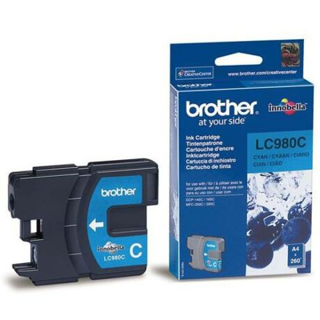 Eredeti Brother LC 980 cyan - 260 oldal
