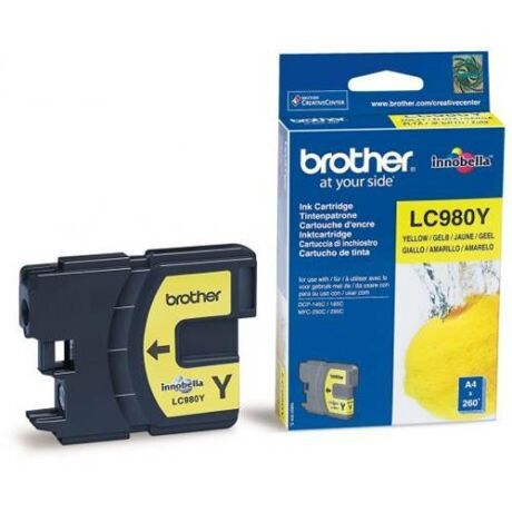 Eredeti Brother LC 980 yellow - 260 oldal