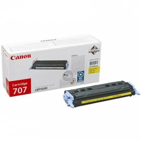 Eredeti Canon CRG 707 yellow - 2000 oldal