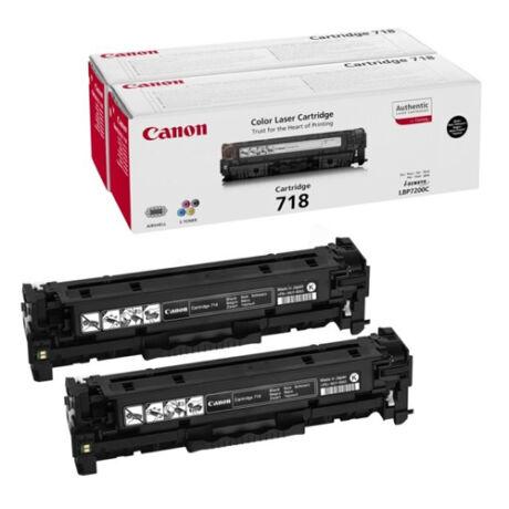 Eredeti Canon CRG-718 DUO fekete 2 x 3.400 oldal (2662B005)