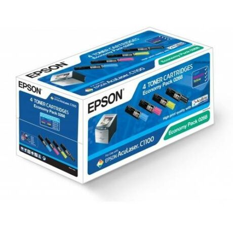 Eredeti Epson C1100 tonerek (BK+CY+MA+YE)