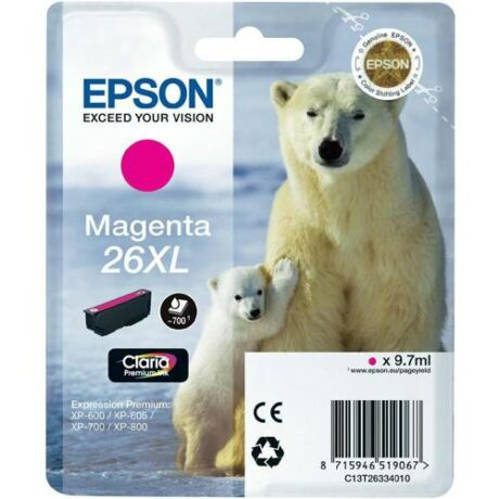 Eredeti Epson T2633 - magenta (9,7ml ~ 700 oldal)
