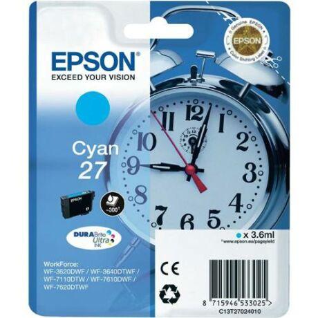 Eredeti Epson T2702 - cyan ~300 oldal