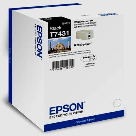 Eredeti Epson T7431 fekete - 2.500 oldal