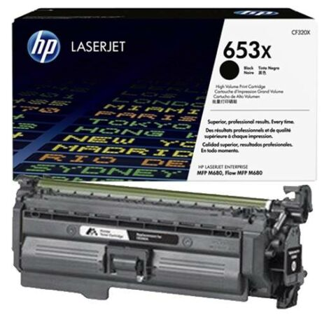 Eredeti HP 653X (CF320X) fekete - 21.000 oldal