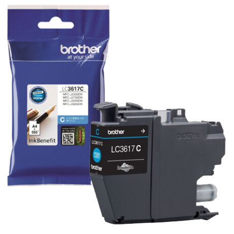 Eredeti Brother LC3617C cyan - 550 oldal