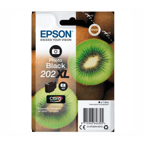 Eredeti Epson T02H1 photo fekete (C13T02H14010)- 7,9ml ~ 800 oldal