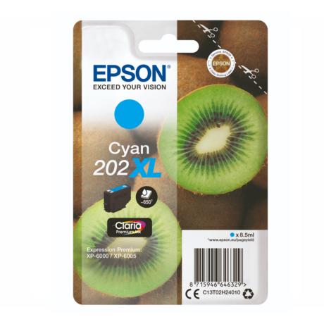 Eredeti Epson T02H2 cyan (C13T02H24010)- 8,5ml ~ 650 oldal