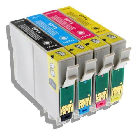 Utángyártott Epson T0715 - Multipack (BK+C+M+Y)