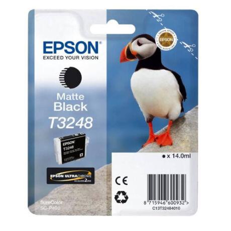 Eredeti Epson T3248 matt fekete - (14ml ~ 980 oldal)