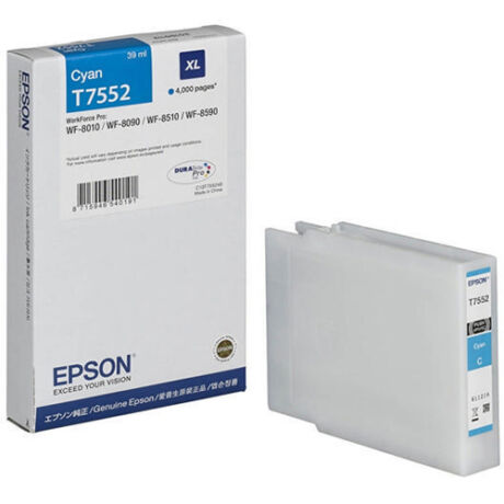 Eredeti Epson T7552 cyan - 39ml ~4.000 oldal